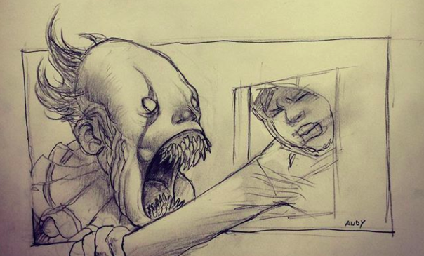 604x365 It' Director Muschietti Shares A Spooky Sketch Of Pennywise