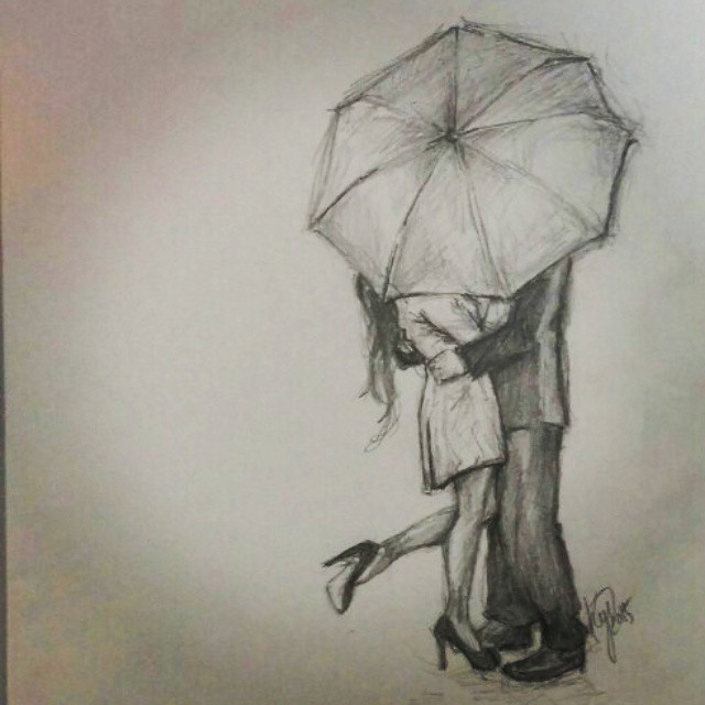 Pencil Drawing Of Love Couple