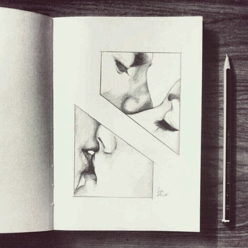 500x500 Amazing, Couple, Drawing, Love, Pencil
