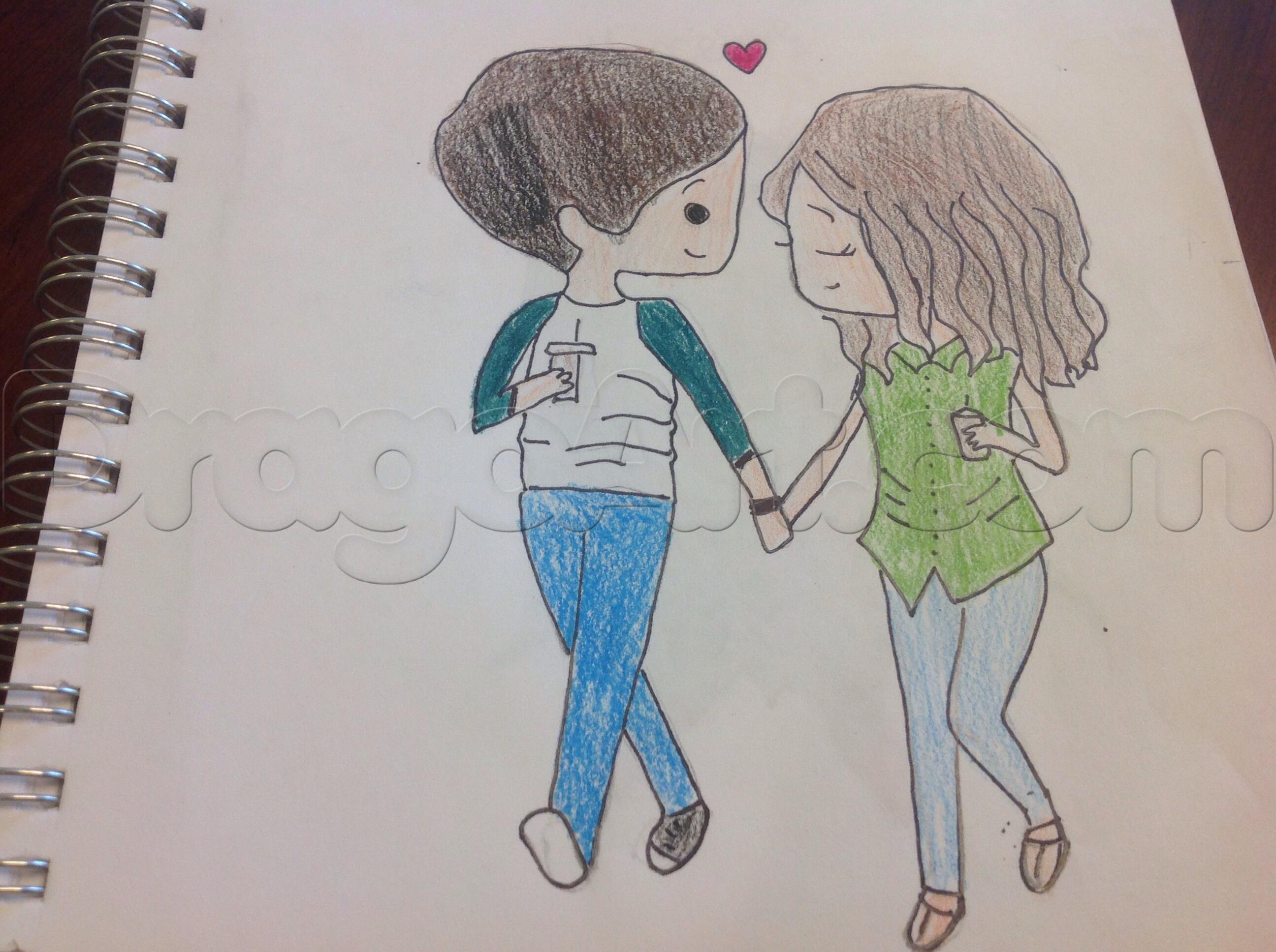Couple Holding Hands Drawing At Getdrawings Com Free For Personal