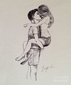 249x300 Couple Hugging Drawings