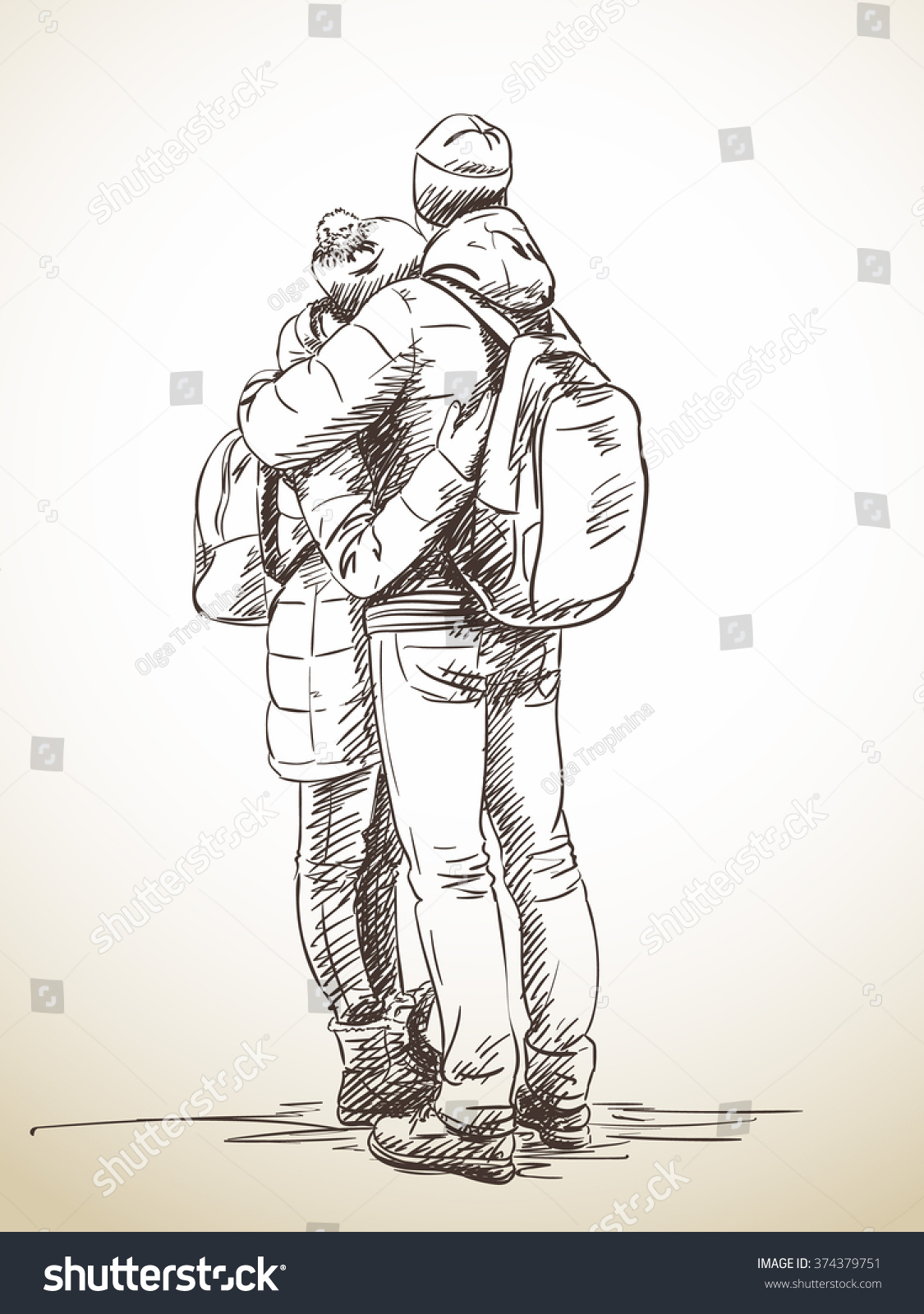 1125x1600 Photos Couple Back Hugging Drawing,