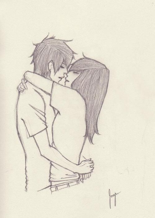 500x703 Photos Couples Hugging Drawings,