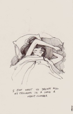 250x391 Drawing Art Girl Sleep Drowning Draw Bed Want Thoughts Long