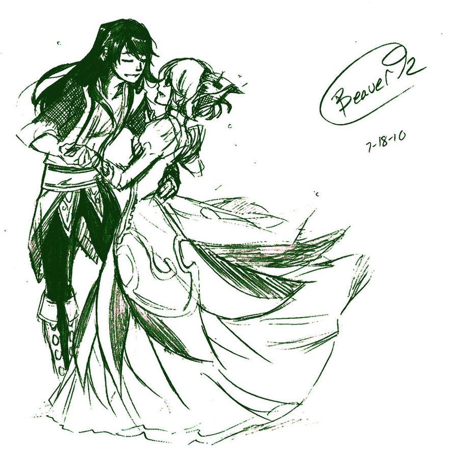 889x898 Photos Draw Anime Couple Dancing,