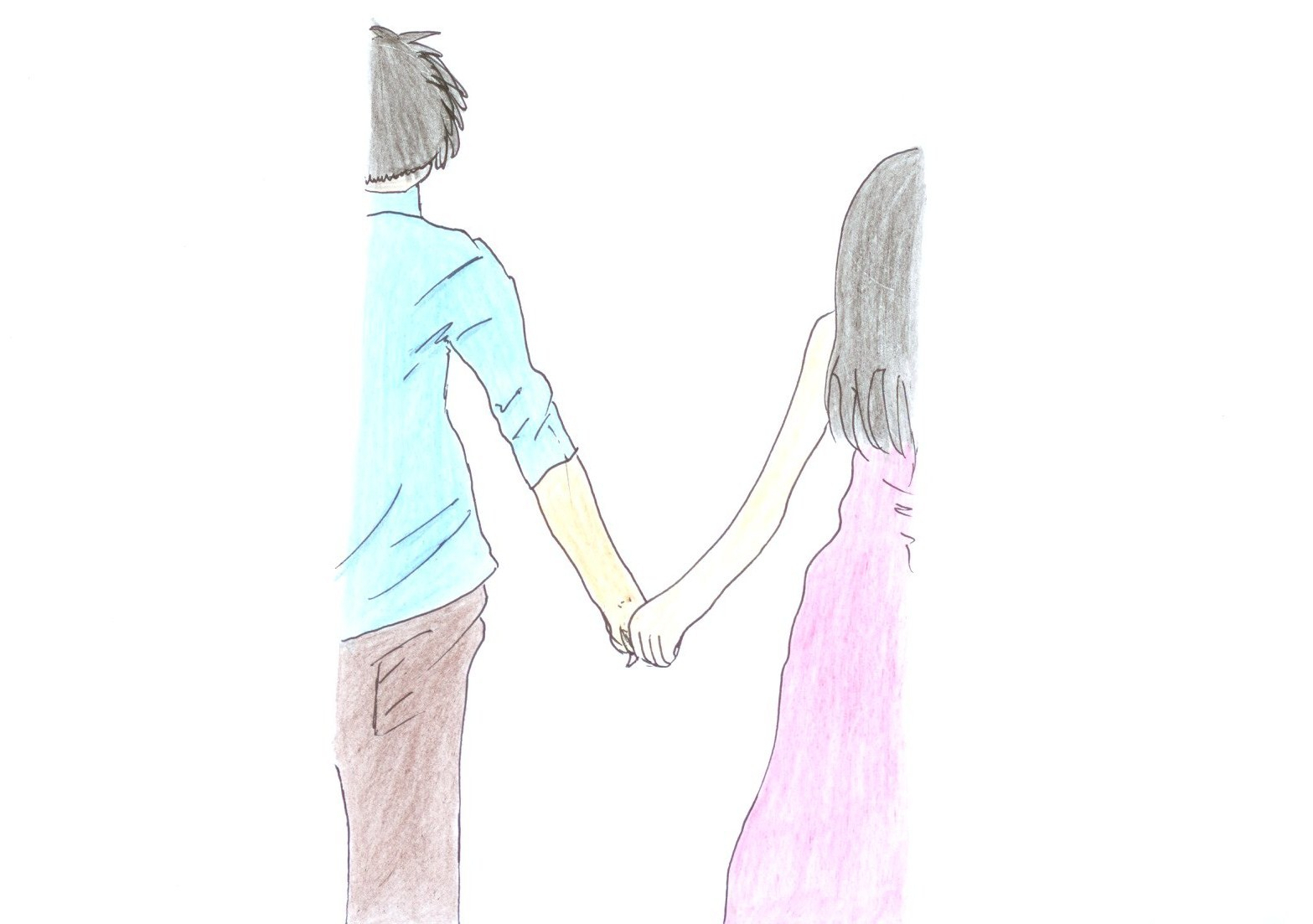 1567x1103 Couples Holding Hands Drawings Cute Drawings Of Lovers Holding