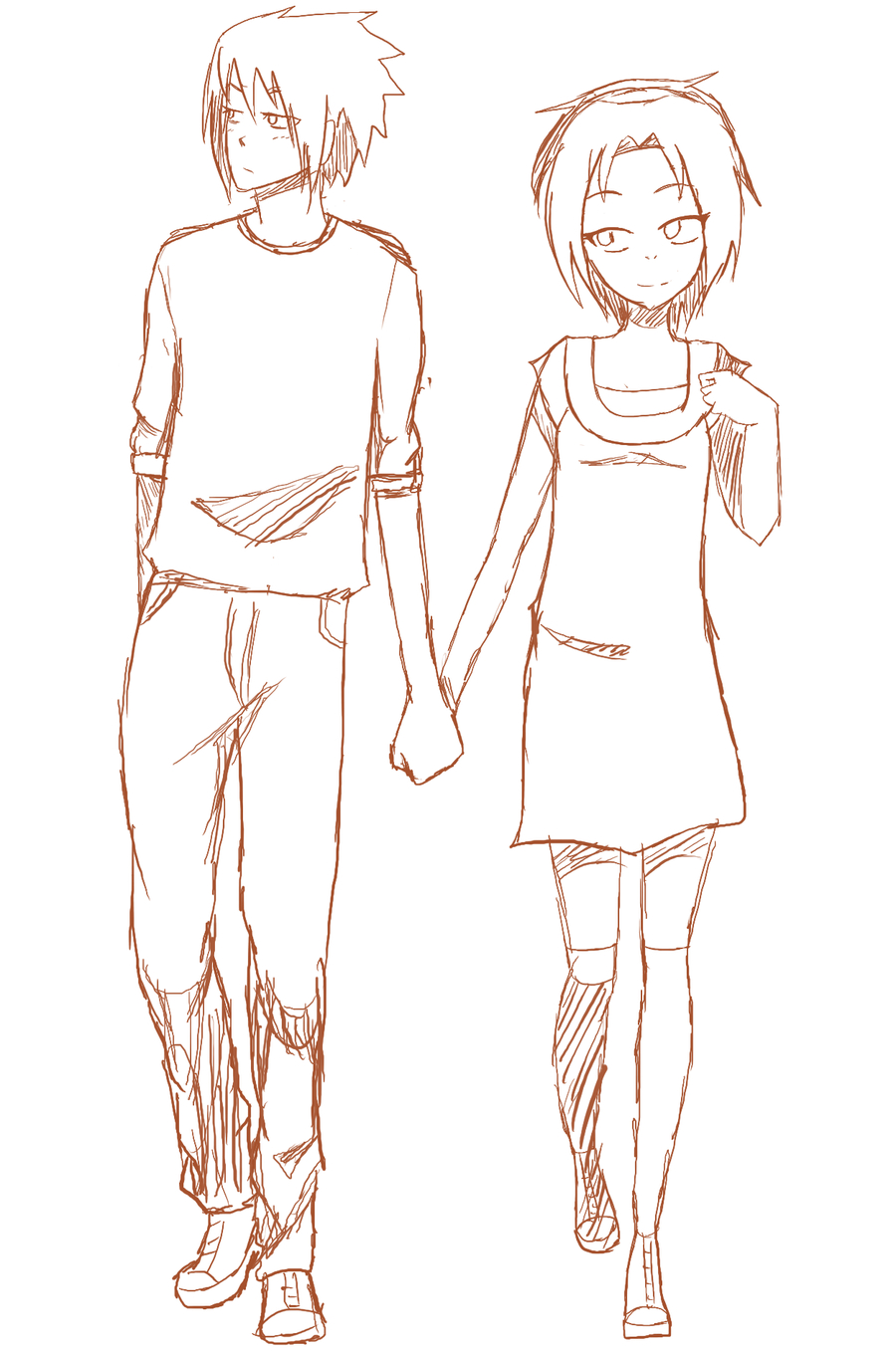 900x1357 Gallery Anime Drawing Couple Holding Hands,