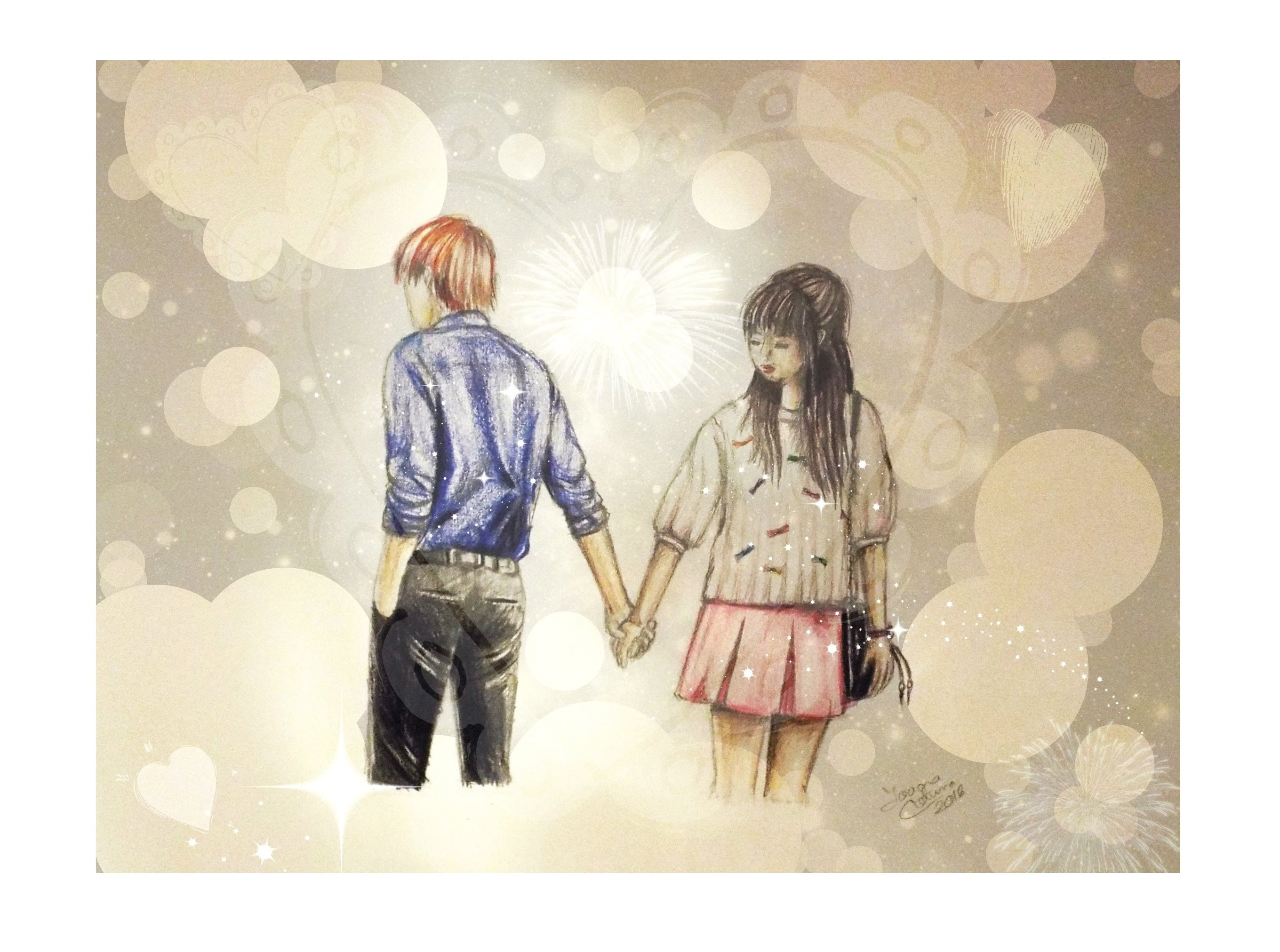 2720x2024 How To Draw Couples Holding Hands How To Draw A Couple Holding