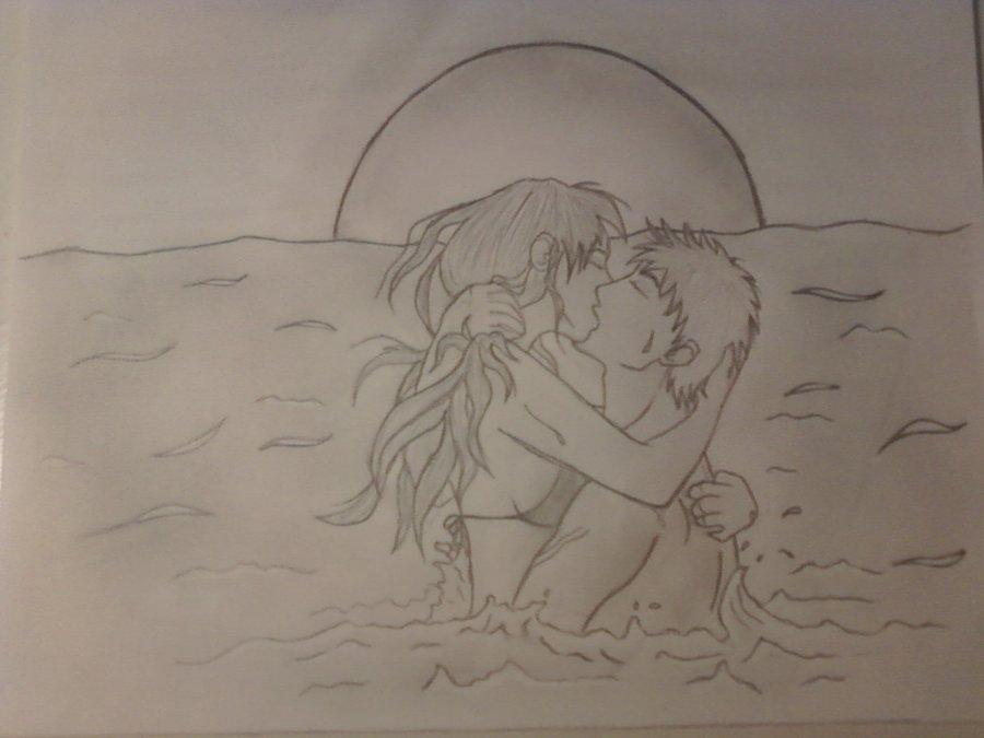 900x675 Anime Couple Kiss By Jeannette13z