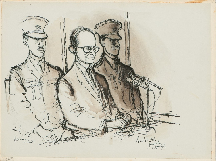 760x567 Ronald Searle Tribute Court Drawing