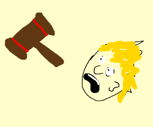 300x250 A Court Hammer Thing Vs A Floating Head (Drawing By Crohnan)