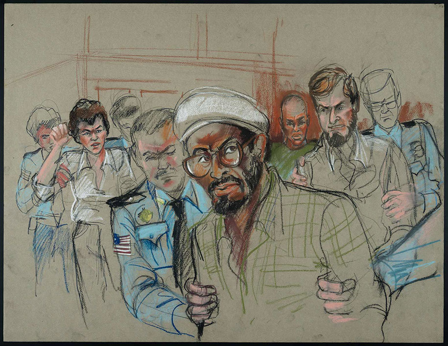 915x707 Rare Courtroom Sketches From Most Infamous Trials Where No