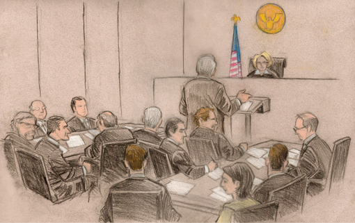 510x321 Courtroom Sketches For Nfl Hearing