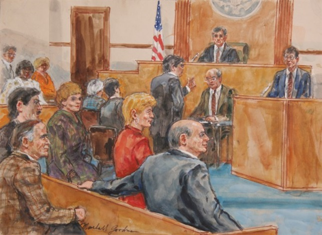 643x470 Courtroom Drawing 13 By Marshall Goodman On Artnet