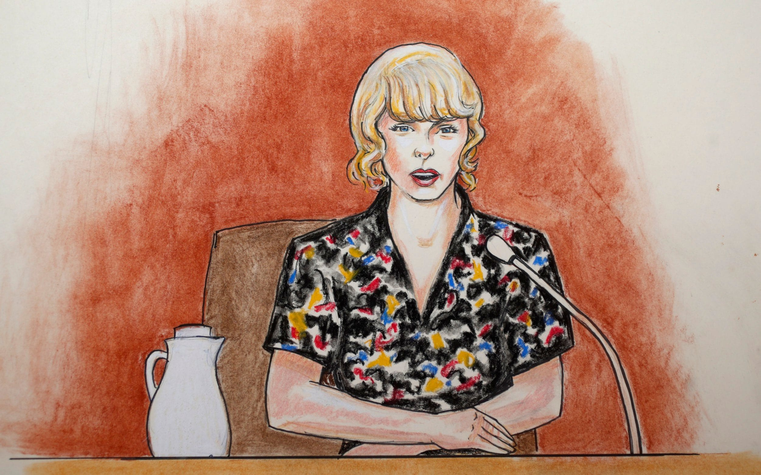 2501x1563 Taylor Swift's Courtroom Sketch Artist Says He Struggled To Draw