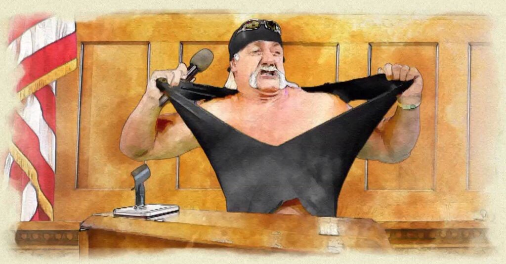 1024x534 Actual Courtroom Sketch From Hulk Hogan's Lawsuit