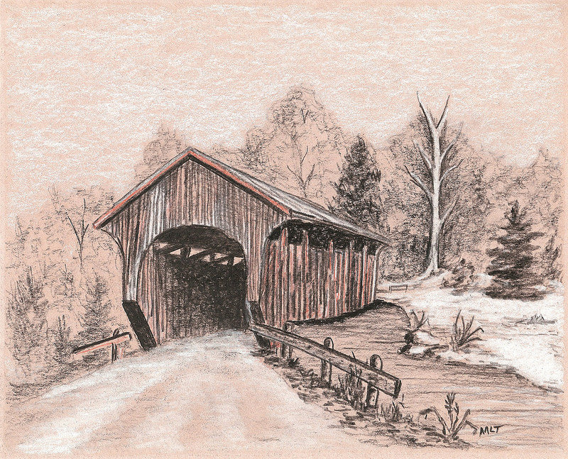 800x647 Covered Bridge Bridge, Country Art And Woodcarving