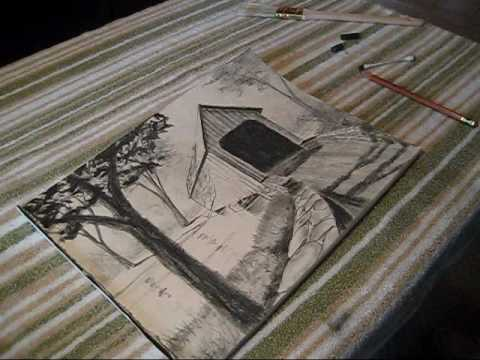 480x360 How To Draw A Covered Bridge.wmv