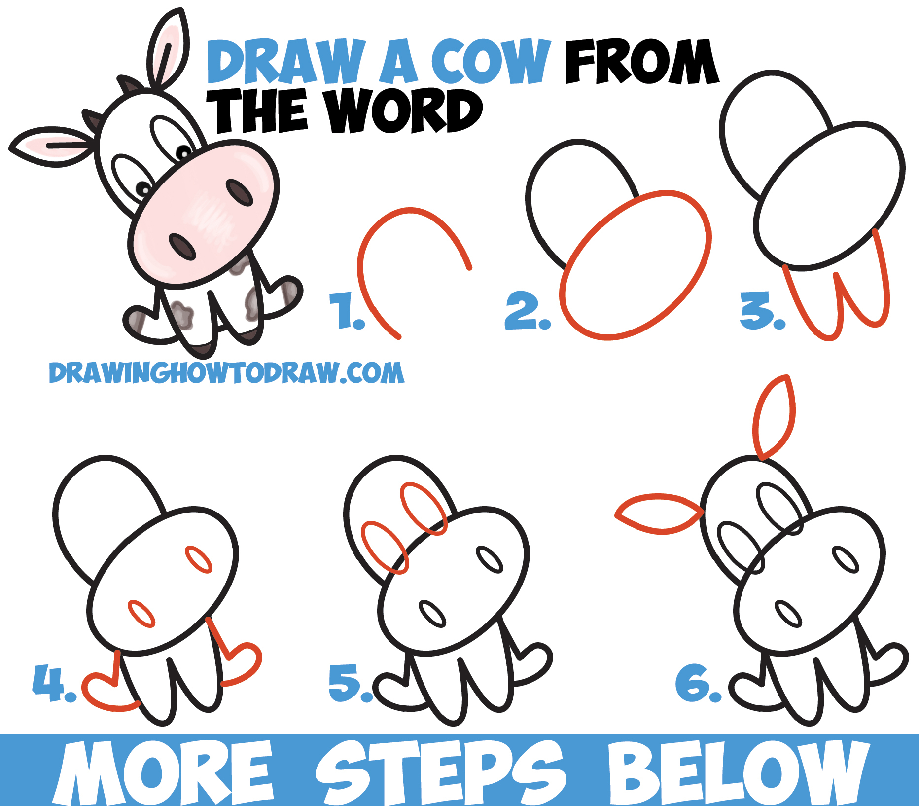 Cow Drawing Cartoon at GetDrawings com | Free for personal