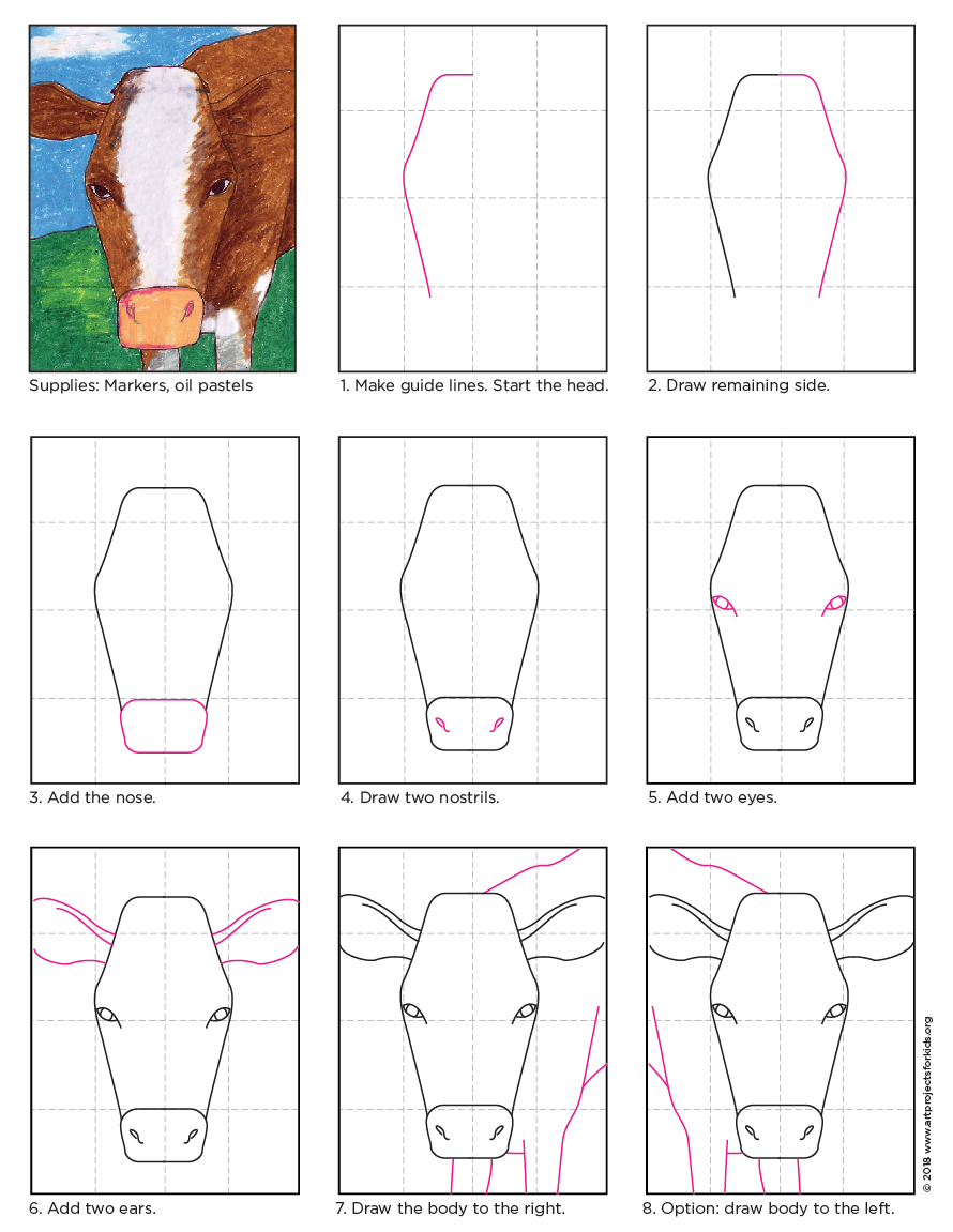 890x1151 Cow Face Drawing