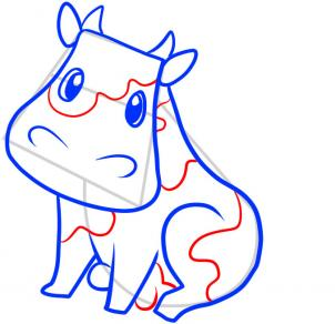 302x292 How To Draw How To Draw A Cow For Kids