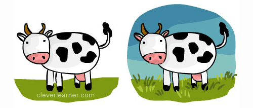 500x213 Step By Step Drawing Of A Cow