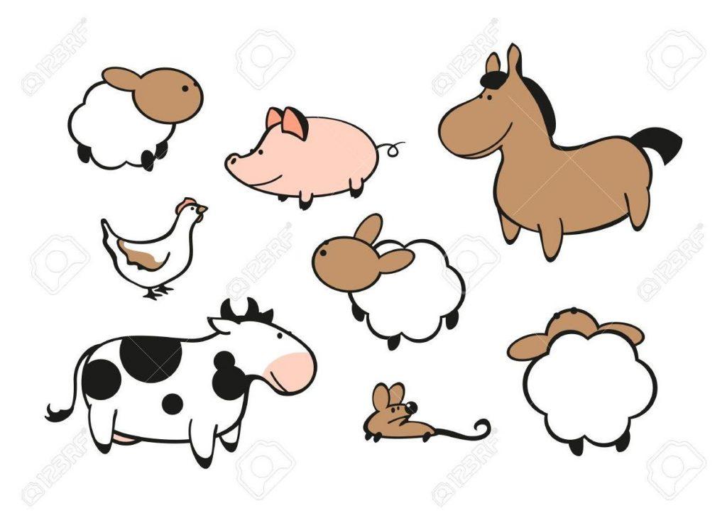 1024x723 Unique Top Farm Animals Stock Vector Cow Cartoon Pig Image Drawing