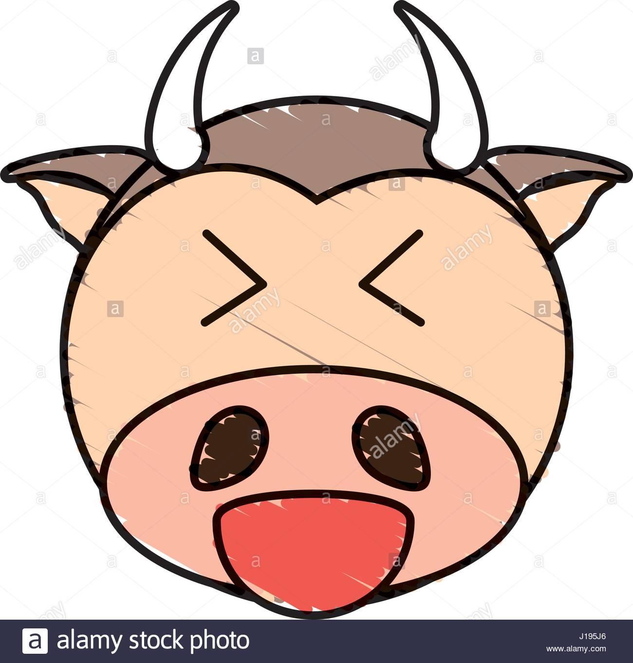 1300x1361 Cute Cow Drawing Animal Stock Vector Art Amp Illustration, Vector