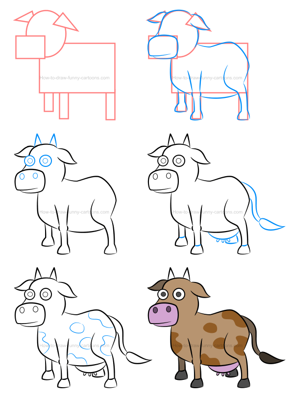 600x811 To Draw An Illustration Of A Cow