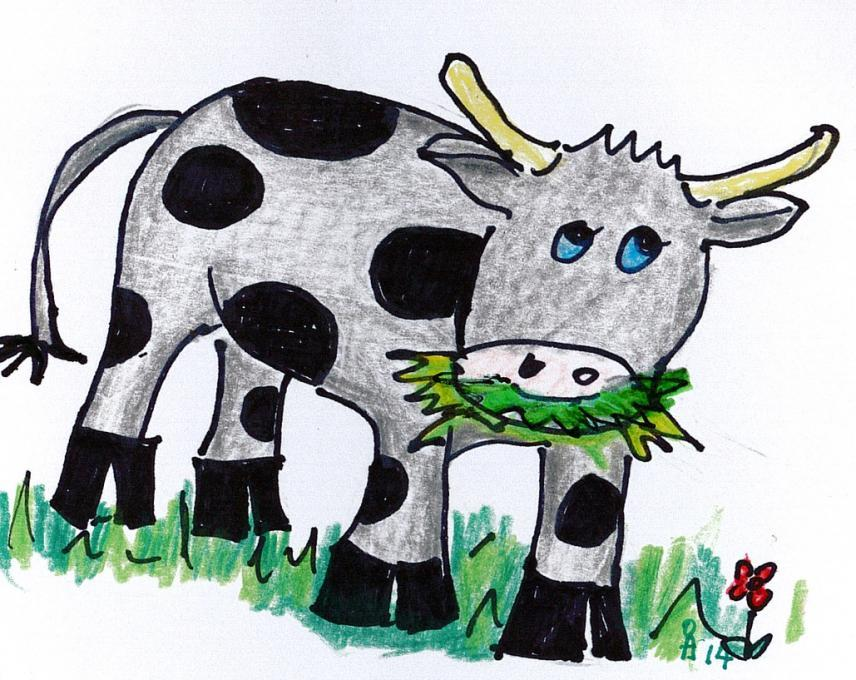 Cow Easy Drawing At Getdrawings Com Free For Personal Use Cow Easy