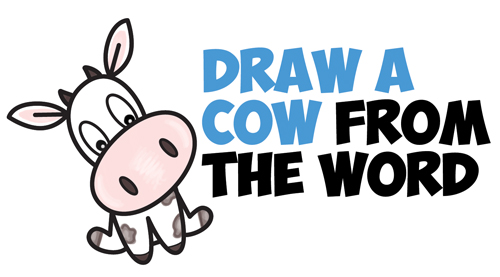 500x277 How To Draw A Cute Cartoon Kawaii Cow Word Toon Easy Step By Step