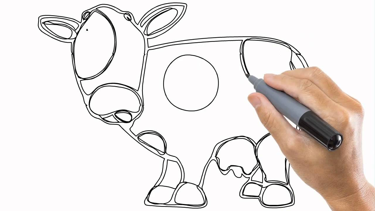 1280x720 Cartoon Cow Drawing How To Draw A Cartoon Cow In A Few Easy Steps