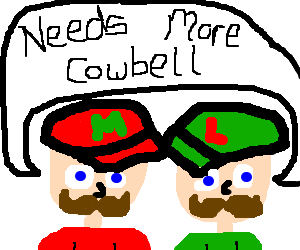 300x250 Mario And Luigi Need More Cowbell (Drawing By Aoife)