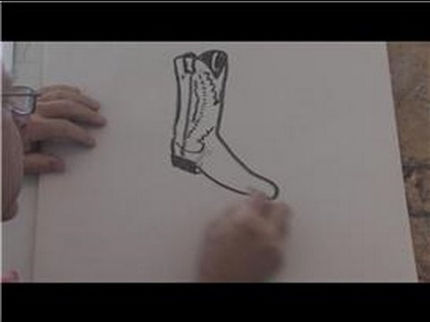 480x360 Drawing Basics How To Draw A Cowboy Boot