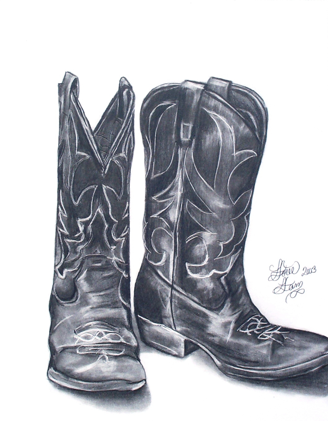 1060x1360 Pencil Drawings Of Cowboy Boots Cowboy Boot Drawing