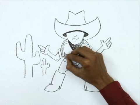480x360 How To Draw A Little Cowboy