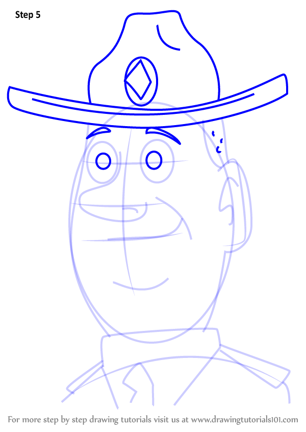 600x846 Step By Step How To Draw Ranger Bart From Pound Puppies