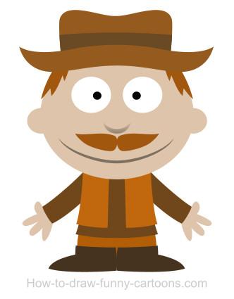 332x425 A Cowboy Cartoon