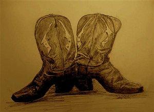 300x218 Cowboy Boot Drawings