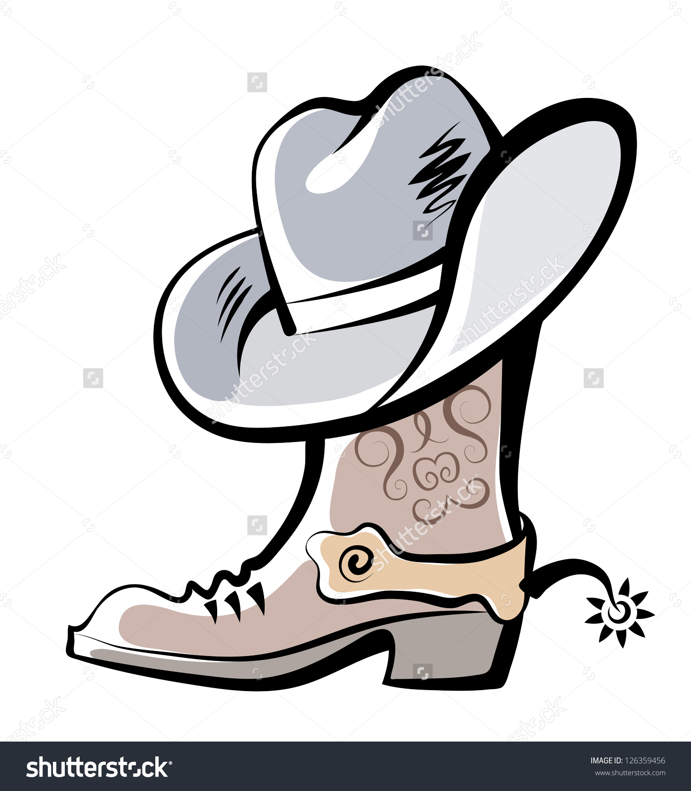 1397x1600 Drawings Of Cowboy Boots Group