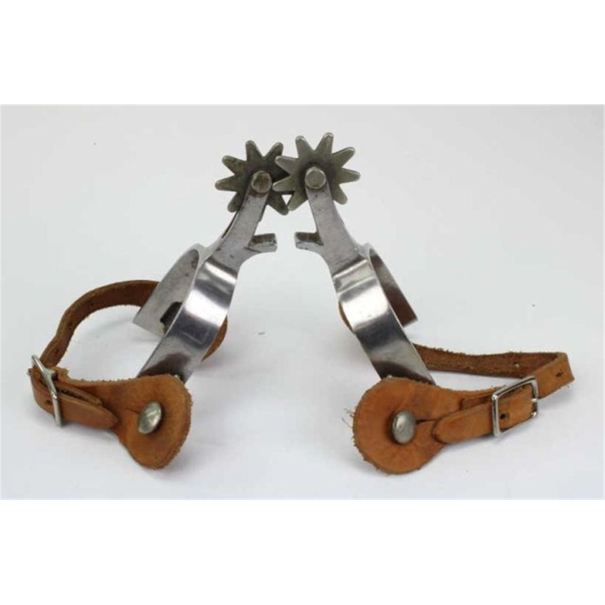 1200x1200 One Pair Crockett Marked Cowboy Spurs With 9 Point Rowels