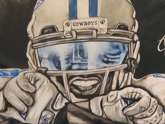 640x480 Dallas Cowboys Superfan Turning Love For The Team Into Art Cbs