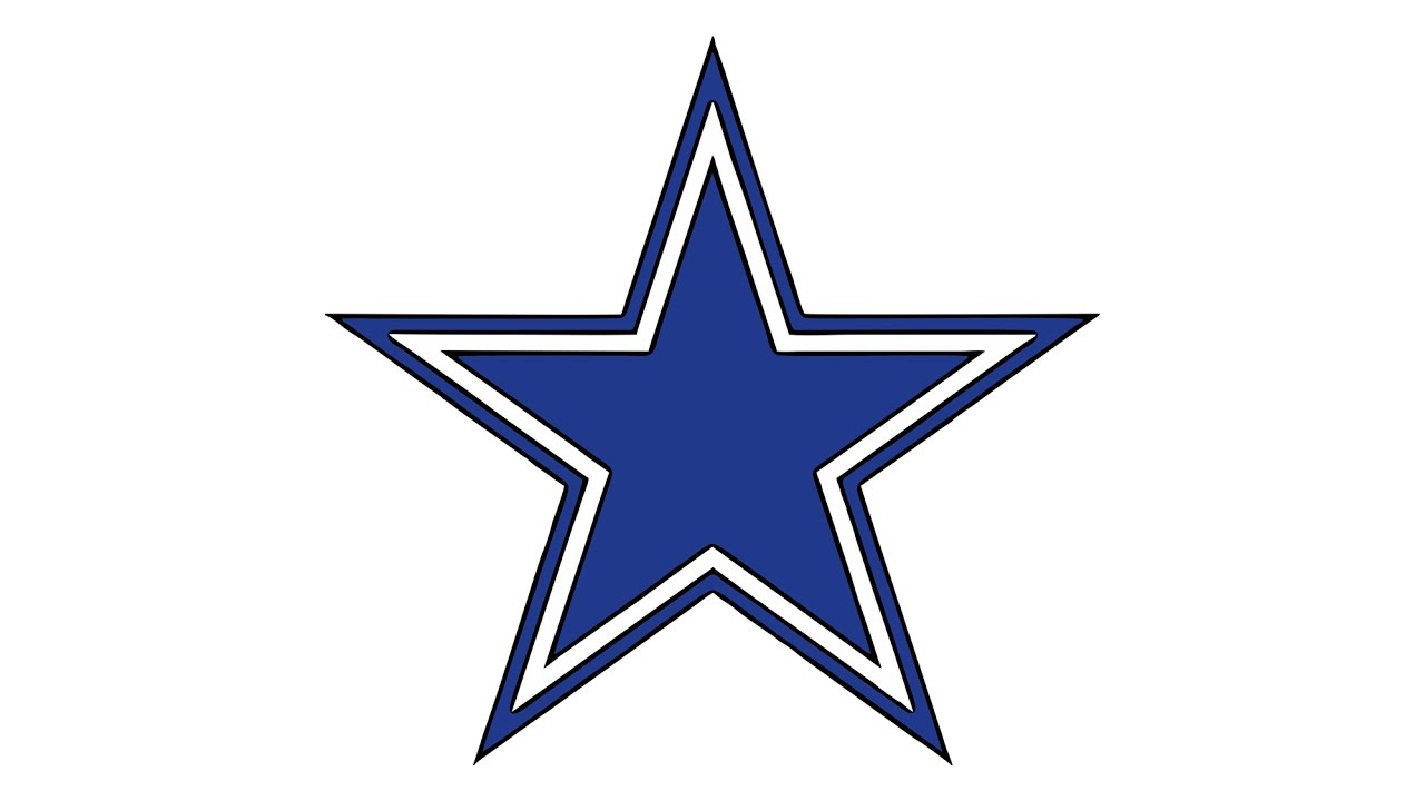 1280x720 How To Draw The Dallas Cowboys Logo (Nfl)