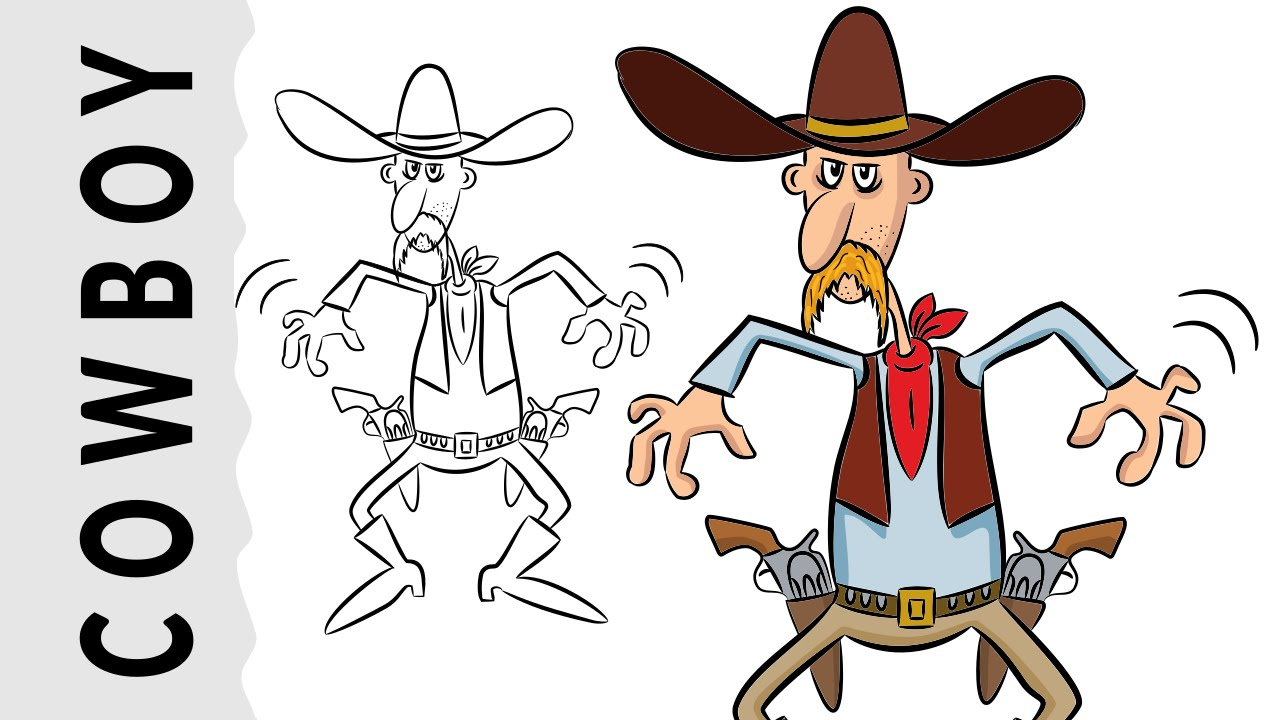1280x720 How To Draw A Cowboy