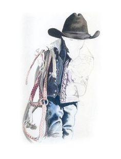 236x310 Pencil drawings of cowboys Original Pencil Drawing Of Cowboy
