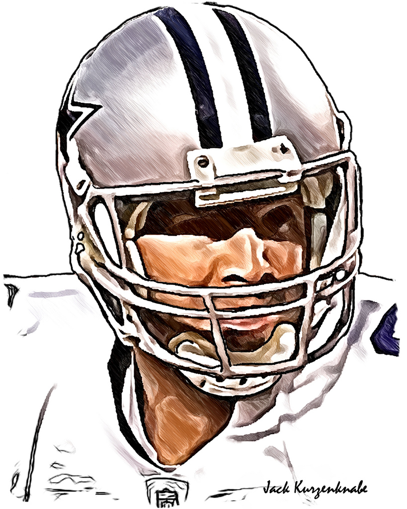819x1024 0 Dallas Cowboys Tony Romo View All My Nfl Drawings By
