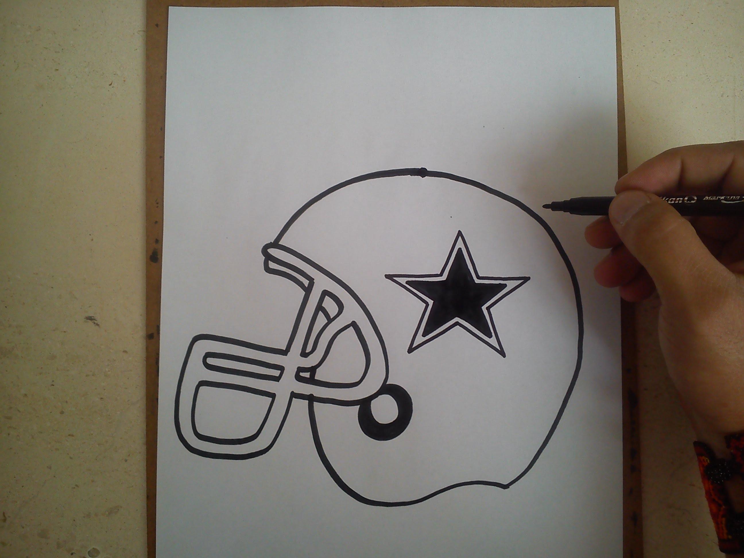 2592x1944 Como Dibujar El Casco De Los Vaqueros De Dallas How To Draw