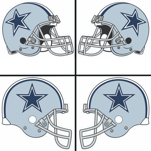 500x500 Dallas Cowboys Helmet Logo Iron On Sticker (Heat Transfer) [Model