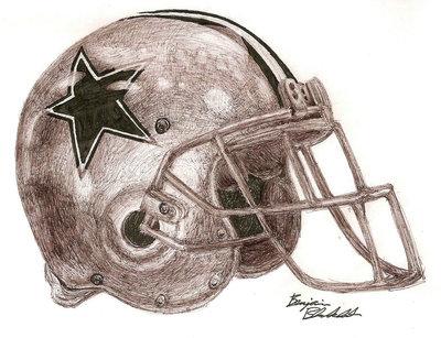 400x307 Dallas Cowboys Helmet By Blankenbehler
