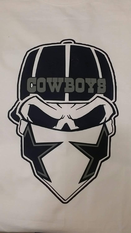 844x1500 Dallas Skull Cowboys By Tinascustomtees On Etsy My Cowboys